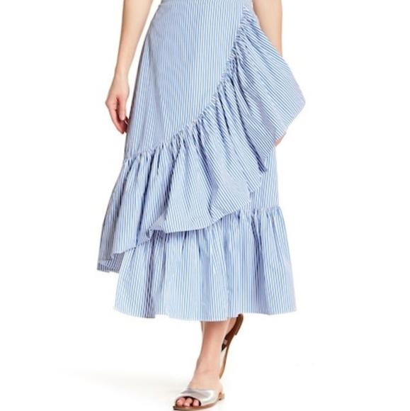 94831a3db198 Abound Skirts   Striped Poplin Midi Ruffles Skirt   Poshmark